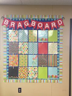 """Have to brag about my fun and sassy """"brag board"""" that I created!  I'll be using it this year for my 3rd graders!!"""