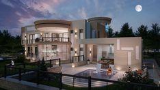 Luxury Floor Plans, Luxury House Plans, Luxury Homes Dream Houses, Modern House Plans, Best Modern House Design, Small Luxury Homes, Luxury Homes Exterior, Big Modern Houses, Modern Villa Design