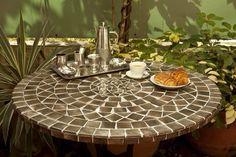 Cosmic brown mosaic table