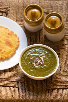 sarson ka saag or mustard greens, a creamy delicious saag. a winter specialty from north india.