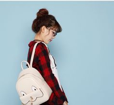 BeiBaoBao Faux-Leather Tasseled Backpack | YESSTYLE
