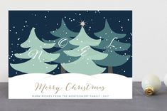 """""""Noel Wishes"""" - Holiday Cards in Winter Night by Roopali."""