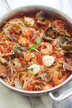 One Pot Seafood Pasta - easy seafood pasta cooked in one pot. Quick and delicious dinner that you can whip up in less than 30 mins | rasamalaysia.com #pastafoodrecipes #DeliciousSeafoodMeals