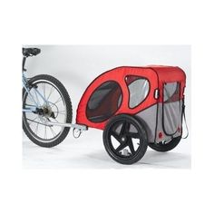 Durable and comfortable bicycle pet trailer. Lightweight and durable frame. Pet has visibility. Easy to attach to bike. Measures 29 inches by 20 inches by 20 inches. Baby Bicycle, Dog Bike, Pet Bike Trailer, Bike Trailers, Trailer Diy, Indestructable Dog Bed, Dog Stroller, Large Dog Crate, Cool Dog Houses