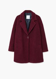 Abrigo lana mohair | MANGO