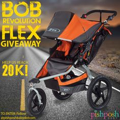 Got an Instagram account? Follow @pishposhbabydotcom? Great news - you are ALREADY entered to win a BOB Revolution Flex stroller! That's right - just follow us on Instagram for an entry. Simple? Yes. (We're moms. We get it.) Help us reach 20K Instagram followers! :D Ends 8/29/14. http://instagram.com/p/rCAsWCptD4/