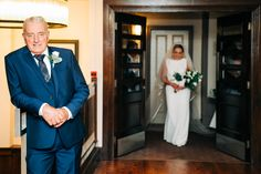 The excitement of getting ready on the morning of your wedding but when Daddy sees his little girl in her wedding dress for the first time brings a surge of emotions. Here is Miriam meeting her Father at the Brehon Hotel. Photo by Ian Cronin Wedding Suits, Our Wedding, Wedding Venues, Wedding Dresses, Daddys Little Girls, Civil Ceremony, Industrial Wedding, Wedding Wishes, Rehearsal Dinners
