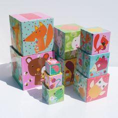 Djeco Stapelspiel Stapelturm Tiere im Wald für Kleinkinder ab 12 Monaten - Bonuspunkte sammeln, Kauf auf Rechnung, DHL Blitzlieferung!