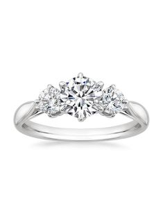 Three Stone Catalina Diamond Ring simple, yet beautiful. Yesterday, today, tomorrow. I love three stone rings.