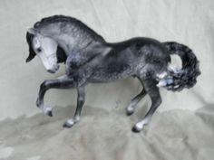 Breyer Horse Statue OOAK CM/Custom New/Rare Iberian (Laredo) Dark Dappled Gray