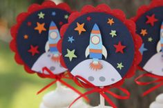 outer space cupcake toppers outer space by lizabitsdesigns on Etsy
