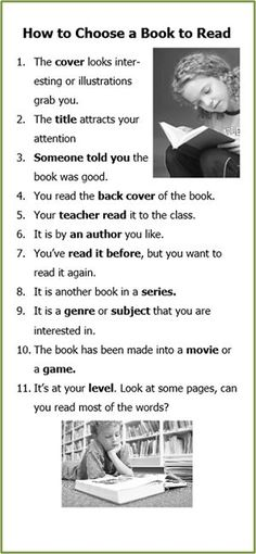 How to choose a book - from the learning unlimited blog: