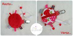range-tétine rouge et fraises - Lilaxel