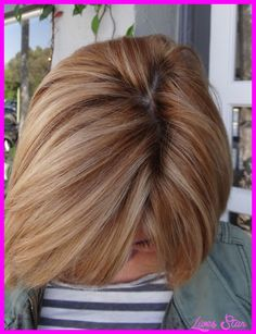awesome Strawberry blonde highlights in brown hair