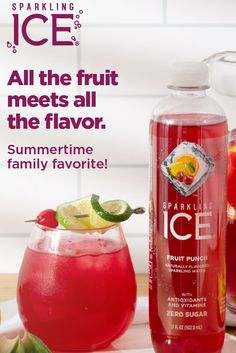 Made with Sparkling Ice Fruit Punch, this mocktail is a summertime family favorite. Tap the Pin for details. Saganaki Recipe, Halloween Wine Bottles, Candy Cane Decorations, Easy Christmas Treats, Summer Sangria, Plum Recipes, Kids Labels, Bachelorette Party Games, Wine Bottle Labels