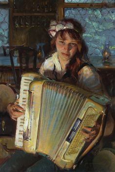 "Oil Painters of America 'Of an Evening"" - Daniel Gerhartz, Norman Rockwell, Alphonse Mucha, Famous Artists, Great Artists, Portrait Art, Portraits, John Singer Sargent, Oil Painters, Figure Painting"