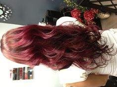 Red wine hair color.. I'm thinking highlights!