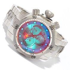 Invicta Reserve Men's Venom Tinted Crystal Stainless Steel Bracelet Chronograph Watch