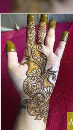 Henna tattoos While traditional mehndi is synonymous with Indian weddings, many modern Indian brides have started opting for contempo. Very Simple Mehndi Designs, Mehndi Designs Front Hand, Full Hand Mehndi Designs, Mehndi Designs 2018, Mehndi Designs Book, Mehndi Designs For Girls, Mehndi Designs For Beginners, Mehndi Design Photos, Mehndi Designs For Fingers