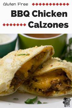 BBQ Chicken Calzones- Cheesy BBQ Chicken stuffed in a crisp easy to ...