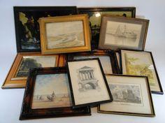 196) Box of various framed artwork (10) Est. £15-£25