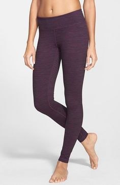 Zella 'Live In - Sonic' Space Dye Leggings available at #Nordstrom color berry cordial