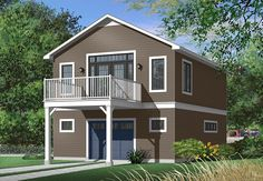 Full technical sheet and illustration of our house plan garage plan shed plan or playhouse. Various categories and house plans available for any budget. Garage Apartment Floor Plans, Garage Apartments, Bungalow, Plan Garage, Garage Loft, Garage Studio, Garage Ideas, Basement Ideas, Carriage House Plans