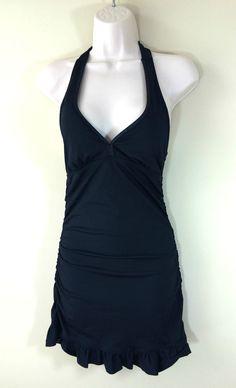 50c4ca563 SPANX Assets Halter Bathing Swim Suit Black Womens Ruffled Pade Piece Sz  Small #SPANX #OnePiece