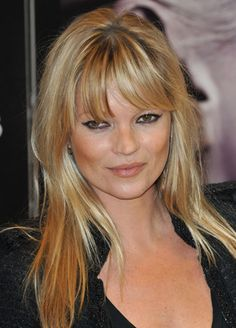 Haircut with bangs/fringe on Kate Moss