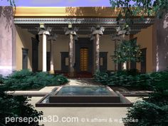 3D reconstruction of the Harem ( Palace of the) in Persepolis.