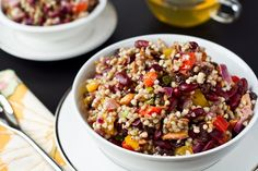 Energizing Protein Power Salad...with wheatberries (of course)
