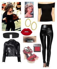 """""""Sandy from Grease"""" by brannablack on Polyvore featuring Claudie Pierlot, R13, Marni, Bling Jewelry, Urban Decay and Lime Crime"""