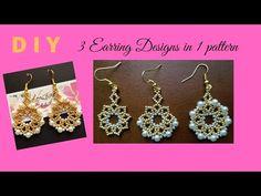 Bead Jewellery, Jewelry Making Beads, Bead Earrings, Crochet Earrings, Making Jewelry For Beginners, Shoe Makeover, Beaded Jewelry Patterns, Bead Weaving, Designer Earrings