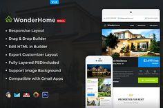 Real Estate E-Newsletter + Builder by NancyS on @creativemarket