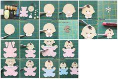 baby punch art using teddy bear punch - bjl