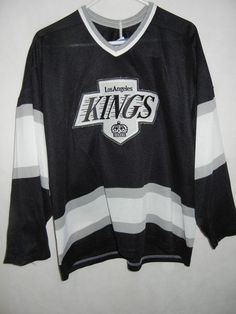 VTG Los Angeles Kings men's L CCM Air Knit Maska jersey Gerry Cosby sewn logo #CCM #LosAngelesKings
