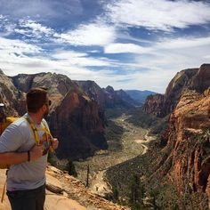 One last look - Angel's Landing, Zion National Park, Utah Zion Canyon, Grand Canyon, Zion National Park, National Parks, Utah Parks, Back To Reality, Twitter Image, Landing, Places To Go
