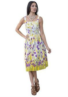 plus size sundresses | Plus Size Print Sundress image