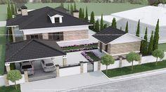 Готовый проект одноэтажного загородного дома село Большой Дальник Одесса Архимас