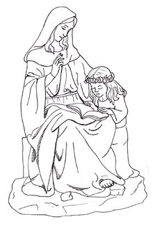 st anneyoung our lady coloring page vbs 2014 catholic crafts
