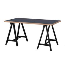 IKEA - LINNMON / ODDVALD, Table, , The table top is covered with a matte paint that protects it against knocks and scratches while making the surface soft and smooth.