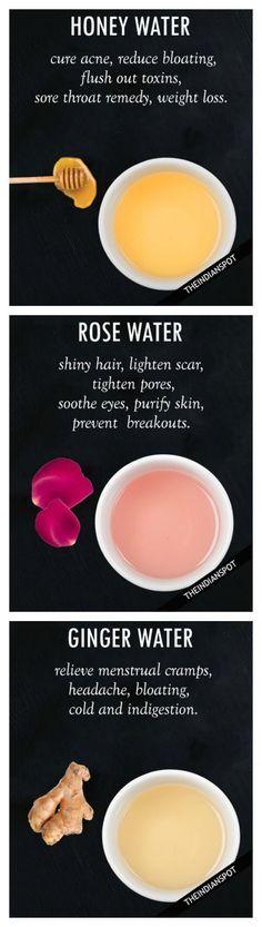 Rosenblüten, Honig, Ingwer – natürliche Hausmittel für schöne weiche Haut & eine strahlende Haarpracht #beautytipps #diy