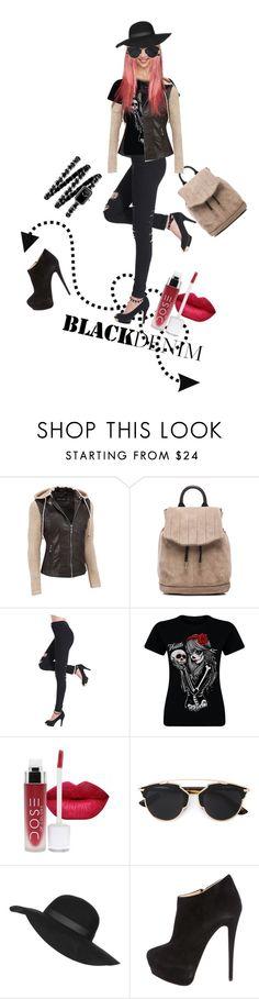 """Black Jeans"" by kari-c ❤ liked on Polyvore featuring Black Rivet, rag & bone, Christian Dior, Topshop, Giuseppe Zanotti, Chanel, women's clothing, women's fashion, women and female"