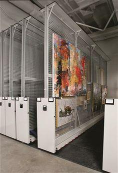 Vertical Art Storage Racks