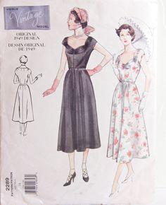 Vogue 2289 Sewing Pattern Dress  Original 1949 Design Size 18 Bust 40 by desertcottage on Etsy