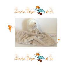 Doudou mouchoir hérisson EARLY DAYS / PRIMARK blanc, marron