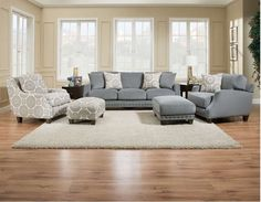 Franklin Furniture   Annalise 4 Piece Living Room Set In Seven Seas    86340 2175