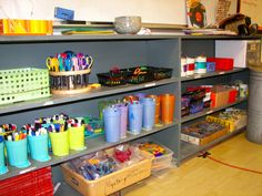 Classroom Art Centers | Material Center: Normal supplies used in the art room