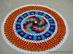 Beautiful and Unique Multicolored Rangoli Design - Diwali Special