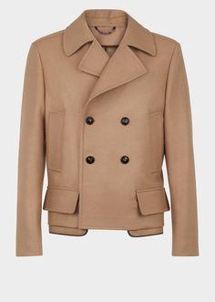 Cappotto doppiopetto misto lana - Cammello Giacche & Cappotti